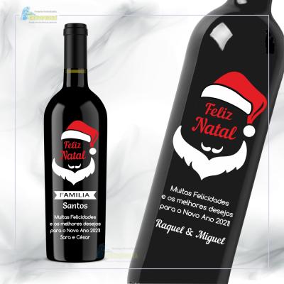 Garrafa de vinho personalizada para Natal/Ano Novo - GNA06