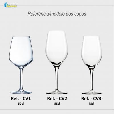 Pack 2 Copos em vidro personalizados - Casamento - CVCN15