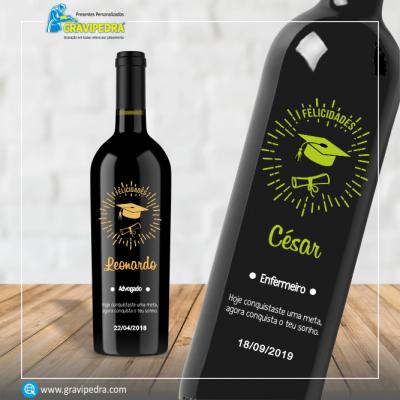 Garrafa de vinho personalizada - Agradecimento - GAG02