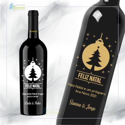 Garrafa de vinho personalizada para Natal/Ano Novo - GNA05