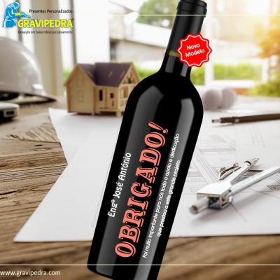 Garrafa de vinho personalizada - Agradecimento - GAG08