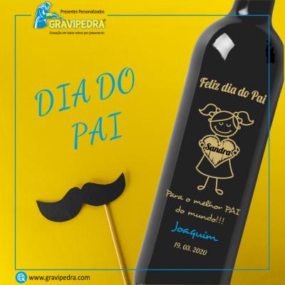 Garrafa de vinho personalizada - Dia do Pai - GDP01