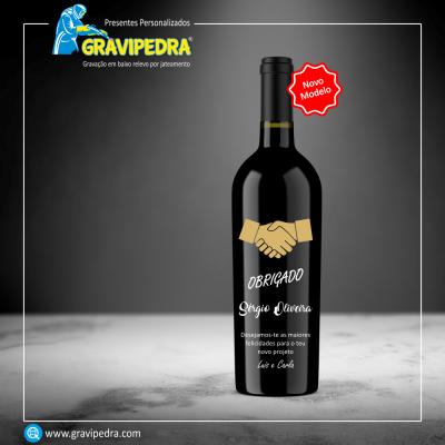 Garrafa de vinho personalizada - Agradecimento - GAG04