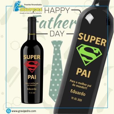 Garrafa de vinho personalizada - Dia do Pai - GDP04