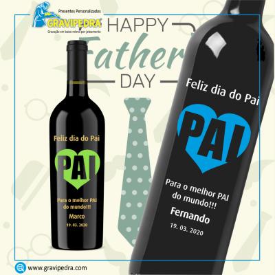 Garrafa de vinho personalizada - Dia do Pai - GDP02