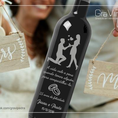 Garrafa de vinho personalizada para Casamento - GCN20