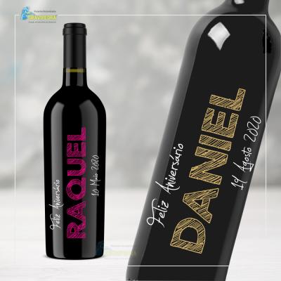 Garrafa de vinho personalizada - Aniversário - GFA52