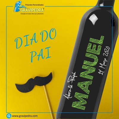 Garrafa de vinho personalizada - Dia do Pai - GDP14