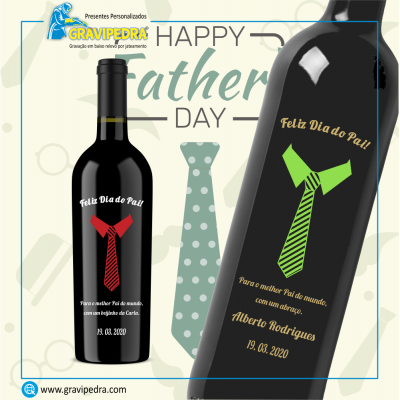 Garrafa de vinho personalizada - Dia do Pai - GDP07
