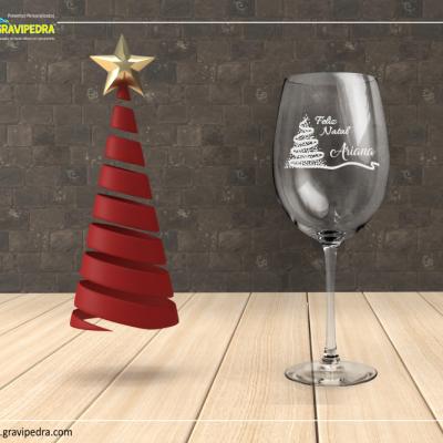 Copo em vidro personalizado - Natal/Ano Novo - CVNAD02