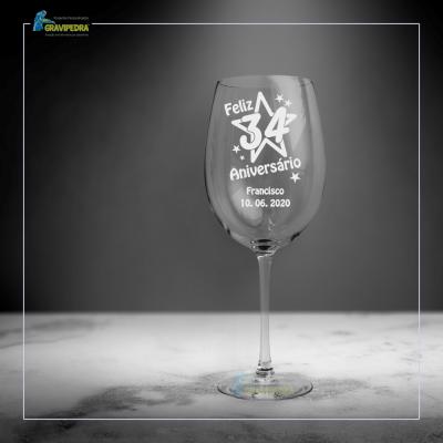 Copo em vidro personalizado - CFA27