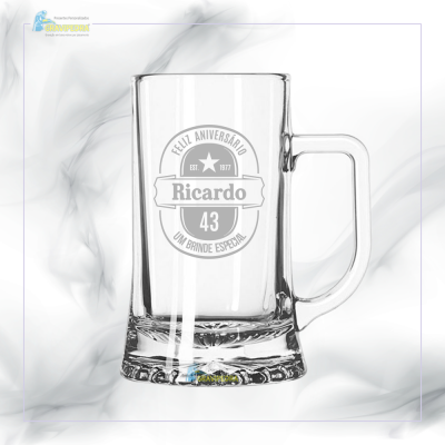 Caneca de Cerveja em vidro personalizada - CCVJ01