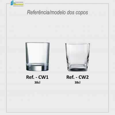 Copo Whisky em vidro personalizado - CVWD01