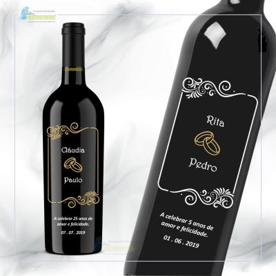 Garrafa de vinho personalizada para Casamento - GCN08