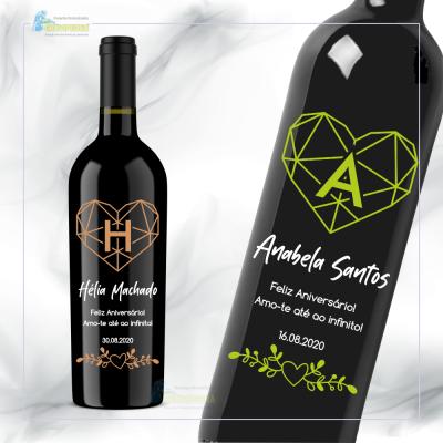 Garrafa de vinho personalizada para Aniversário - GFA28