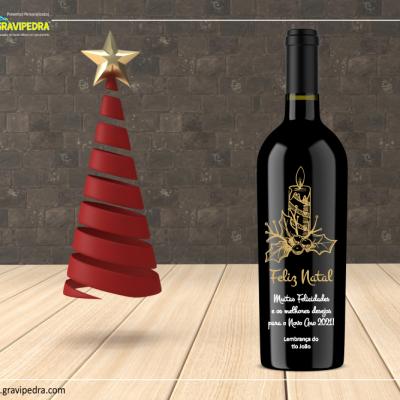 Garrafa de vinho personalizada para Natal/Ano Novo - GNA12