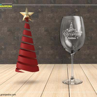 Copo em vidro personalizado - Natal/Ano Novo - CVNAD01