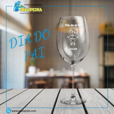 Copo em vidro personalizado - Dia do Pai - TVP05
