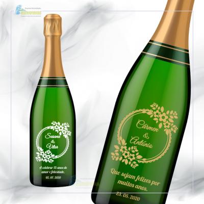 Garrafa de vinho personalizada para Casamento - GCN16