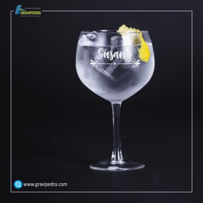 Copo GIN em vidro personalizado - CVGFG02
