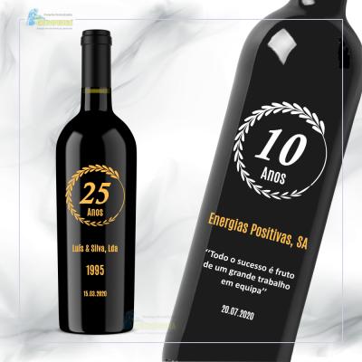 Garrafa vinho personalizada para Empresas - GDE02