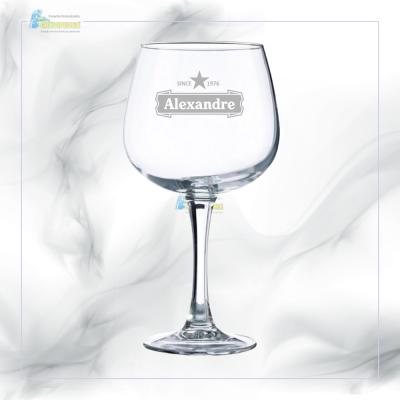 Copo GIN em vidro personalizado - CVGFG03