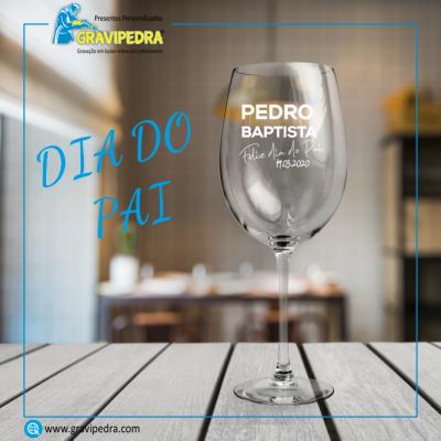 Copo em vidro personalizado - Dia do Pai - TVP15