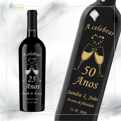 Garrafa de vinho personalizada para Casamento – GCN09