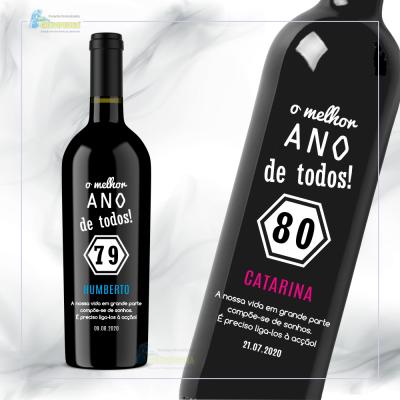 Garrafa de vinho personalizada - Celebrar - GVCLB02