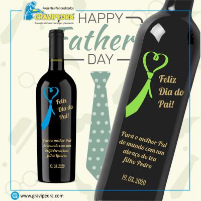 Garrafa de vinho personalizada - Dia do Pai - GDP06