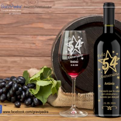 Garrafa de vinho personalizada - Aniversário - GFA27
