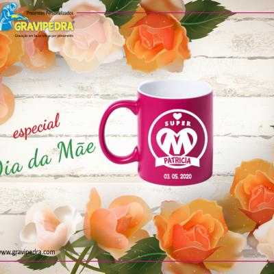 Caneca em louça personalizada – Dia da Mãe - CLDM04