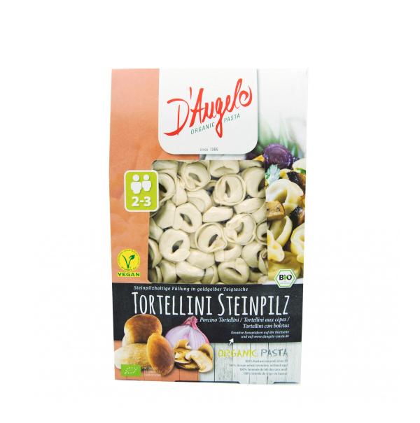 Tortellini c/ Cogumelos Porcini e cebola