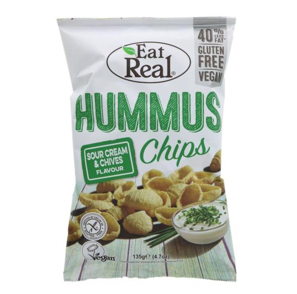 Hummus Chips c/sabor a Creme Azedo e Cebolinho