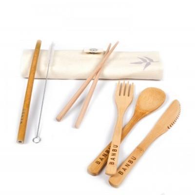 Kit de Talheres em Bambu