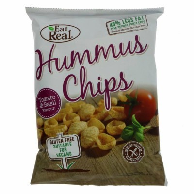 Humus Chips Tomate e Manjericão | Eat Real