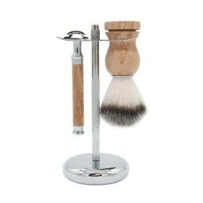 Kit para Barbear em Madeira