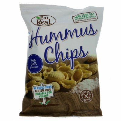 Hummus Chips com sal 135 grs | Eat Real