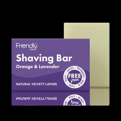 Sabão de Barbear de Laranja & Lavanda - Friendly Soap