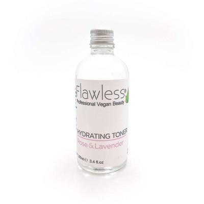 Tónico Facial Hidratante Rosa e Lavanda - Flawless