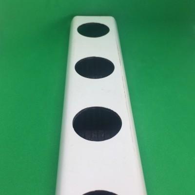 1/ 2 metro Perfil Hidropónico PVC Furado de 80 mm