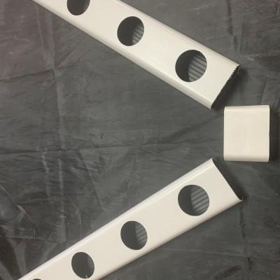 1 metro Perfil Hidropónico PVC Furado de 80 mm con unión