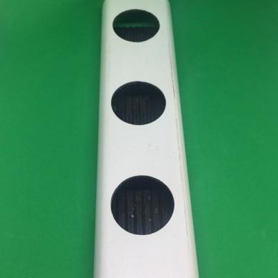 2 metros Perfil Hidropónico PVC Furado de 49 mm con unión