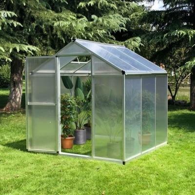Invernadero de policarbonato y aluminio 182 x 183 x 195 cm