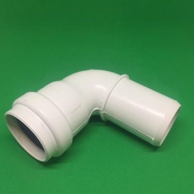 Rodilla PVC DIN Blanco 90º Ø32 mm