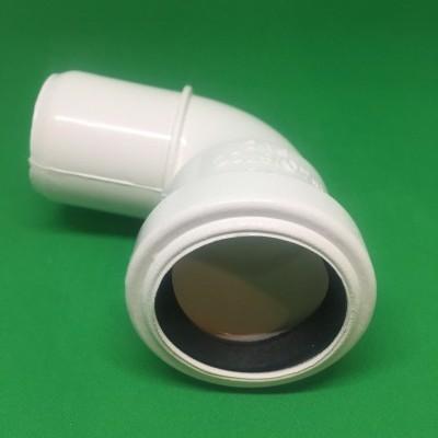 Rodilla PVC DIN Blanco 90º Ø40 mm