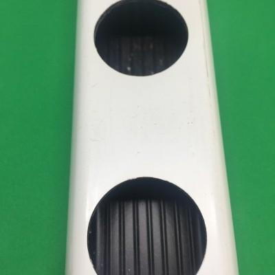 1 metro Perfil Hidropónico PVC Furado de 49 mm