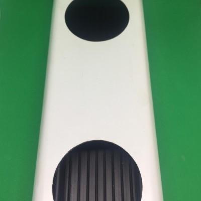 2 metros Perfil Hidropónico PVC Furado de 80 mm con unión