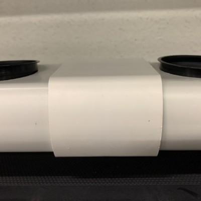 Unión para tubería perforado de 80 mm