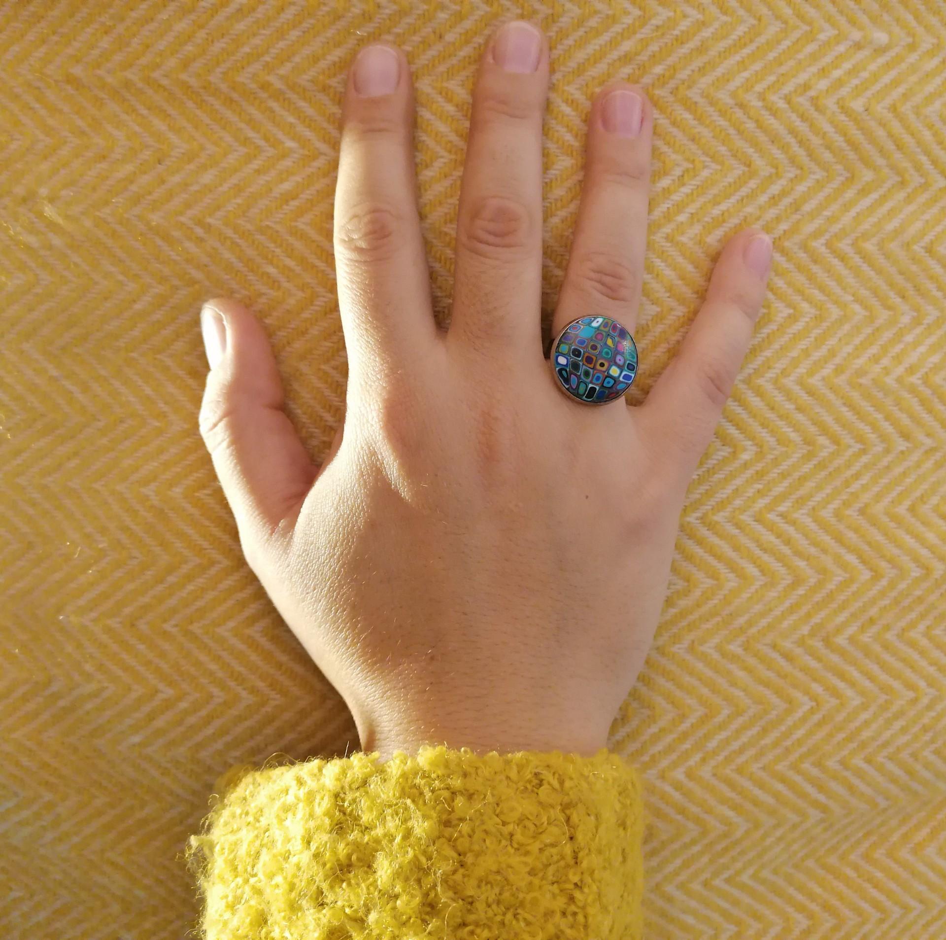 Anel Klimt Azul